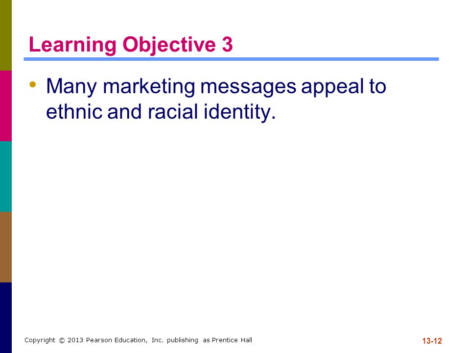 Learning Objective 3 Many marketing messages appeal to ethnic and racial identity.