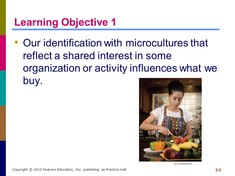 Learning Objective 1 Our identification with microcultures that reflect a shared interest in some organization or activity influences what we buy.