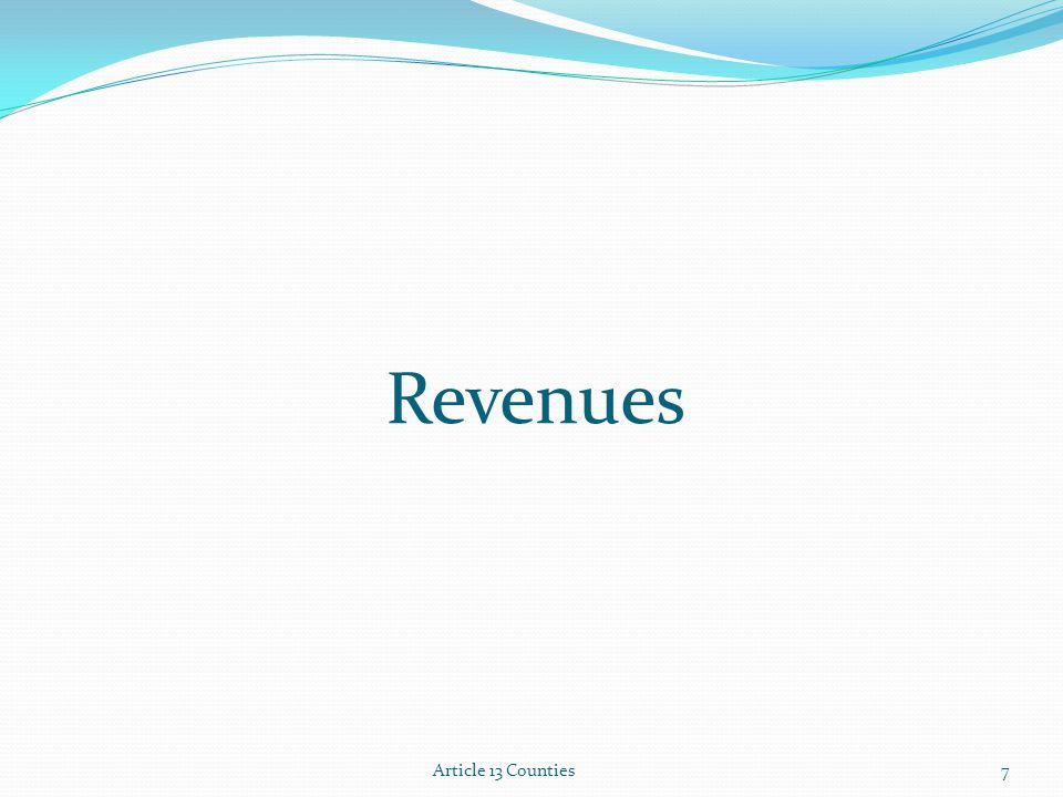 Revenues Article 13 Counties7