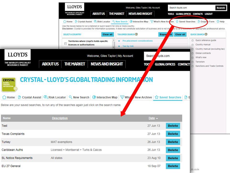 © Lloyd's Questions? 26 Control Framework