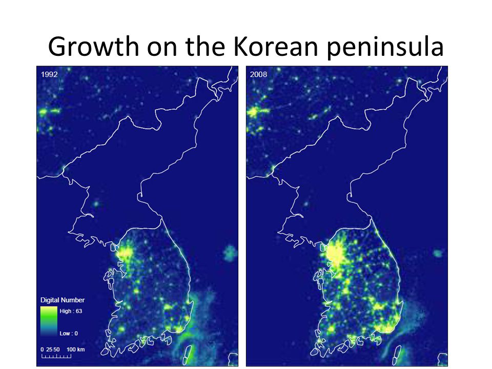 Growth on the Korean peninsula