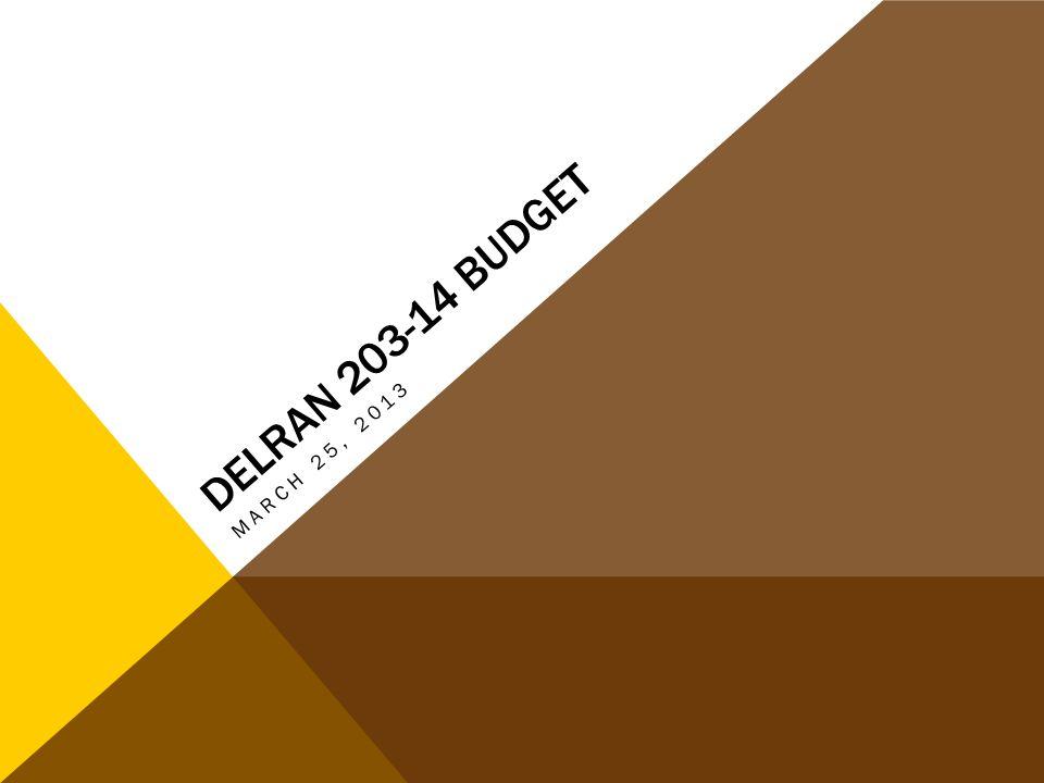 DELRAN 203-14 BUDGET MARCH 25, 2013