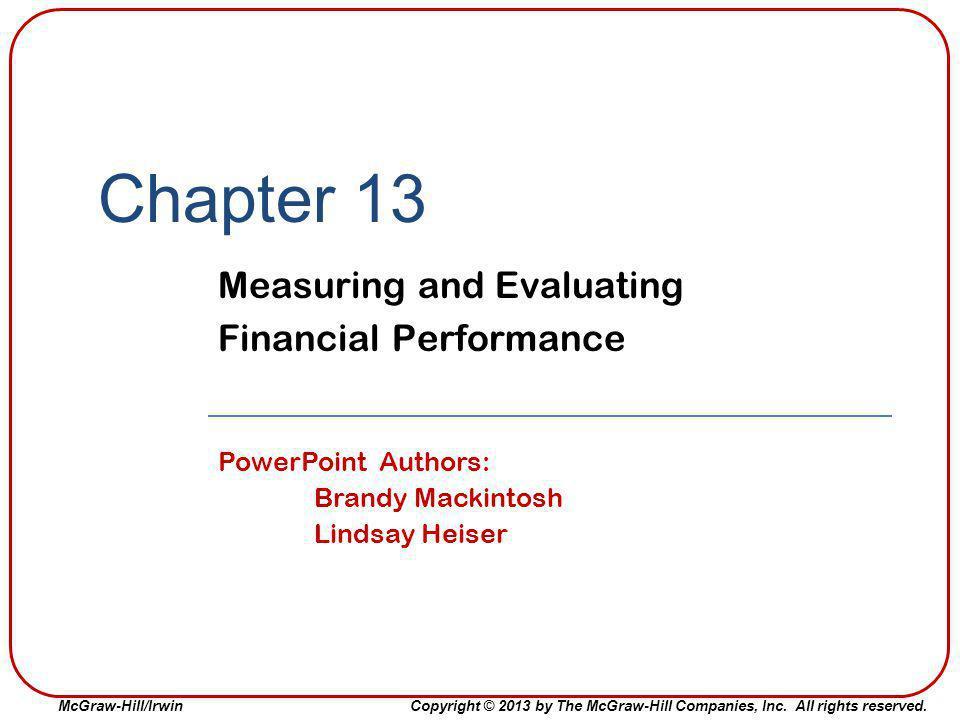 13-12 Common Profitability Ratios