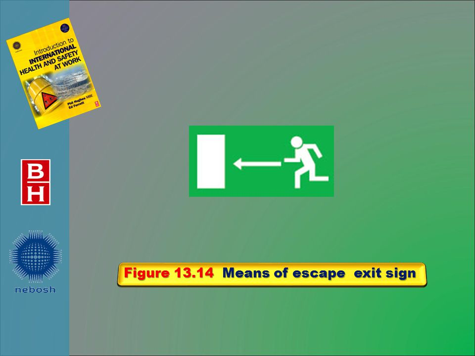 Figure 13.14 Means of escape exit sign