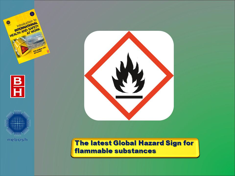 The latest Global Hazard Sign for flammable substances