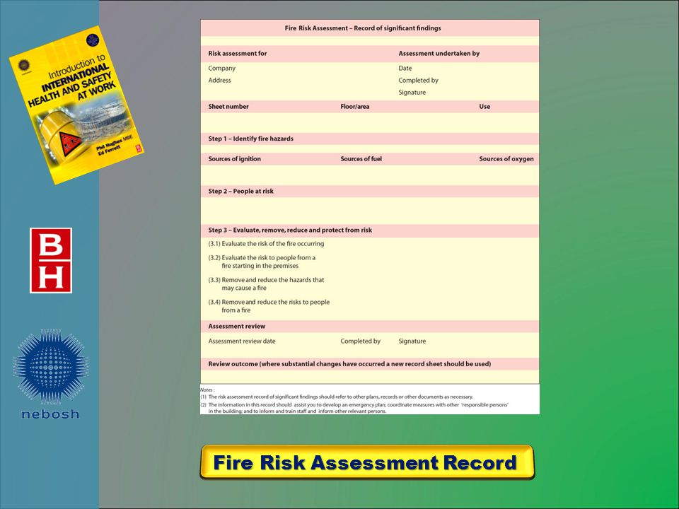 Fire Risk Assessment Record