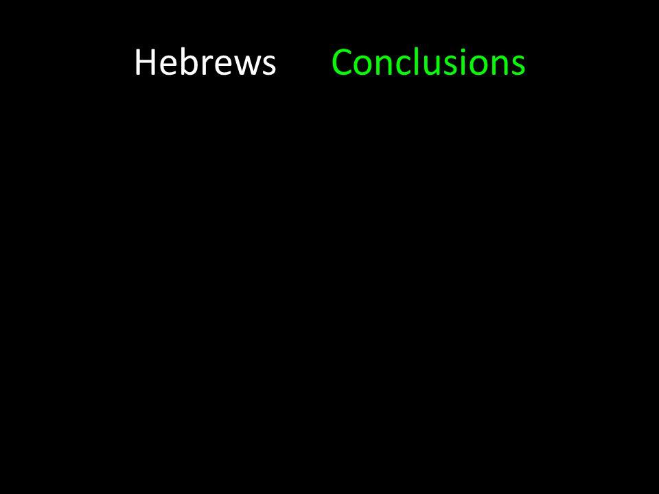 HebrewsConclusions