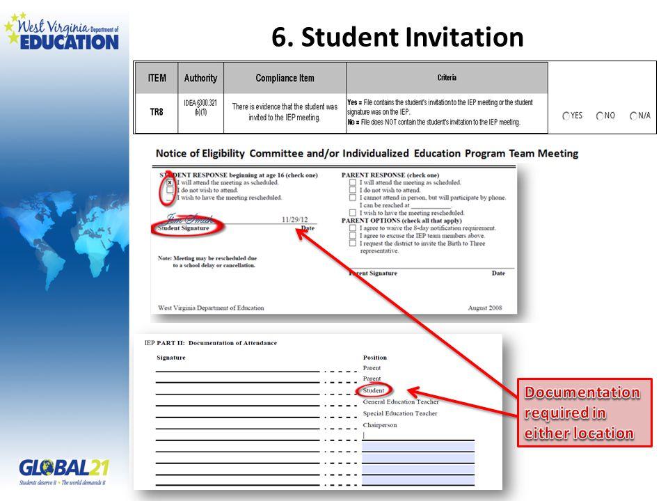 6. Student Invitation