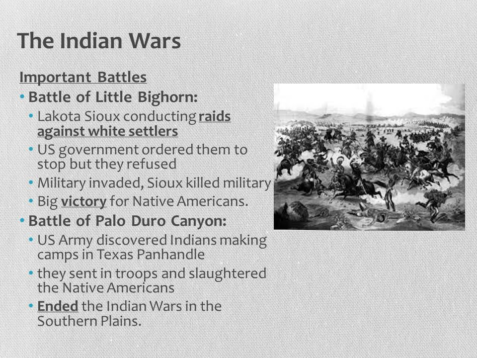 The Indian Wars Ghost Dance A vision by Wovoka that showed Indian dead alive, buffalo return, and settlers would leave.