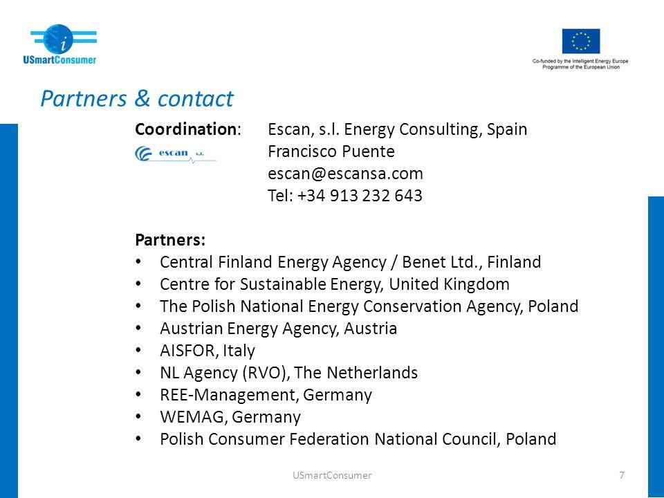 Partners & contact Coordination:Escan, s.l.