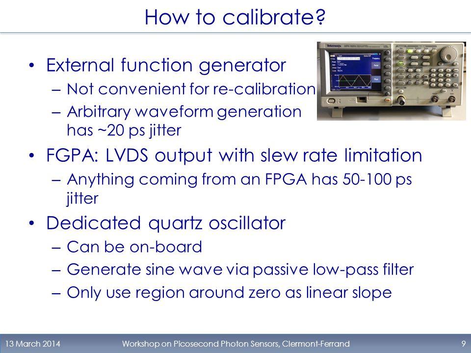 Oscillator 13 March 2014Workshop on Picosecond Photon Sensors, Clermont-Ferrand10 OSC.