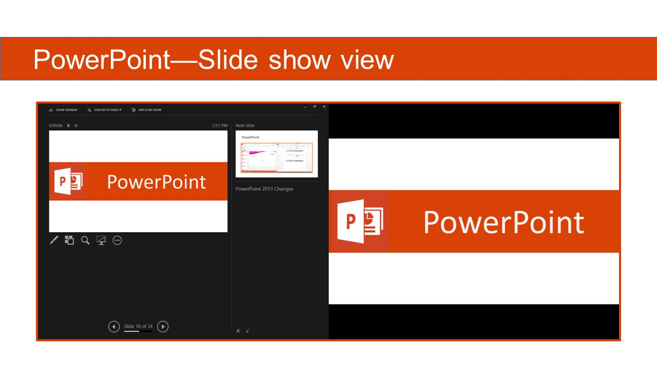 PowerPoint—Slide show view