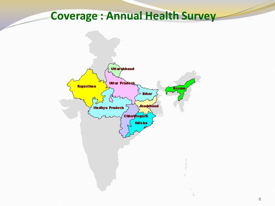 Coverage : Annual Health Survey 6