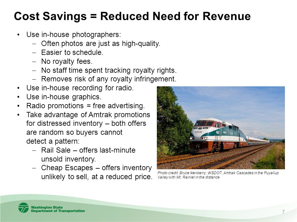 Cost Savings = Reduced Need for Revenue Use in-house photographers:  Often photos are just as high-quality.
