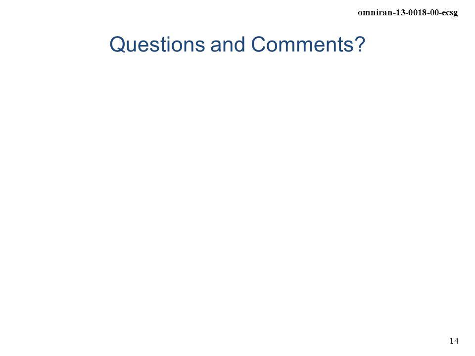 omniran-13-0018-00-ecsg 14 Questions and Comments