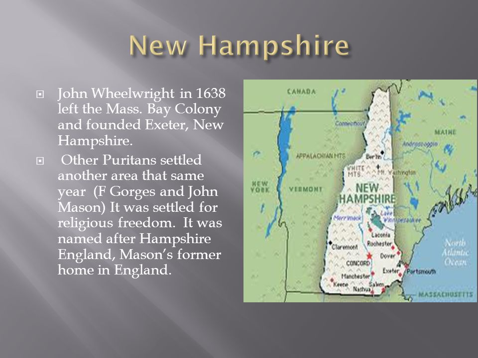  Created in 1644 by Roger Williams because he was kicked out of the Mass.