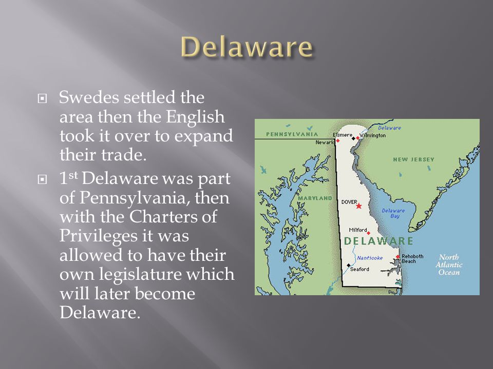  Founded in 1636 by Lord Berkley and Carteret because the Duke of York gave southern New York to them.