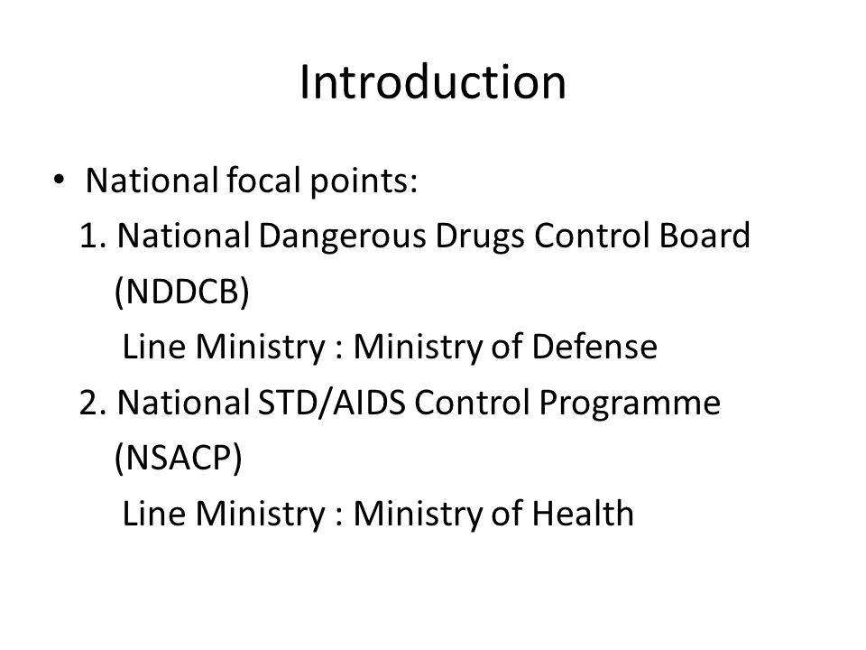 Introduction National focal points: 1.