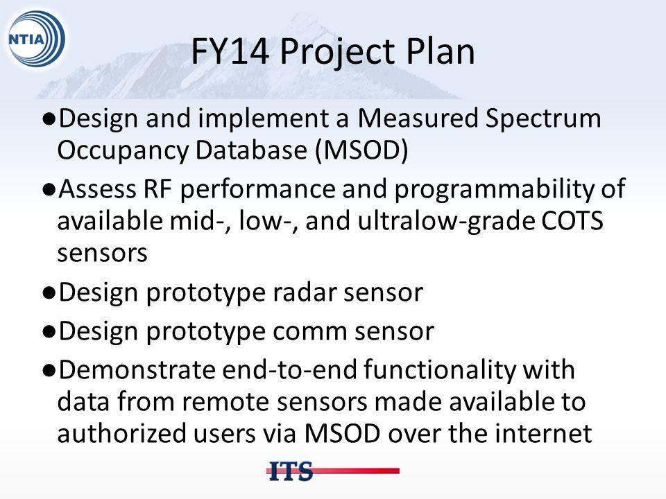 FY15 Project Plan ●Deploy 10 x 3.5 GHz Sensors at Coastlines of U.S.