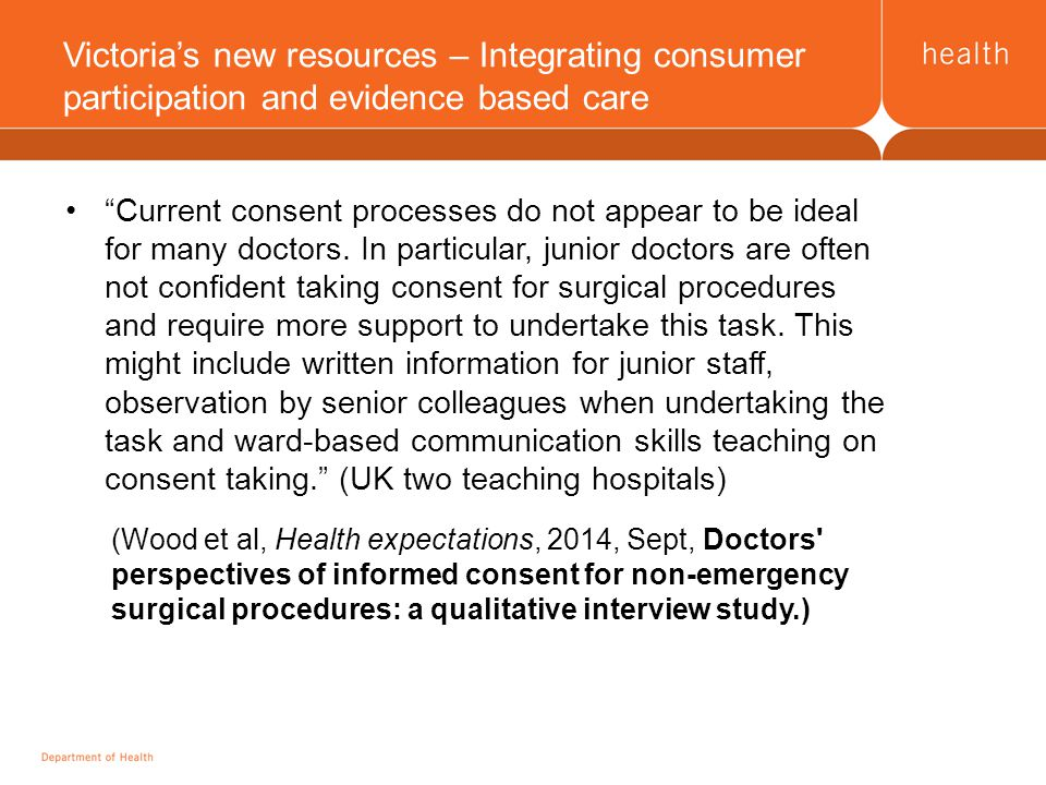 Current consent processes do not appear to be ideal for many doctors.