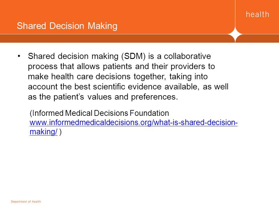 Two conceptual frameworks Interprofessional SharedDecision-Making Ottawa Decision Support Framework https://decisionaid.ohri.ca/models.html Ottawa Hospital Research Institute