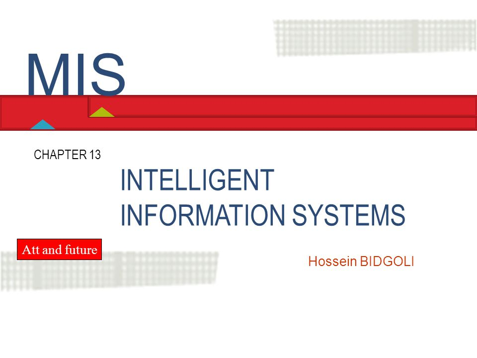 Chapter 13 Intelligent Information Systems LO1 Define artificial intelligence and explain how these technologies support decision making.