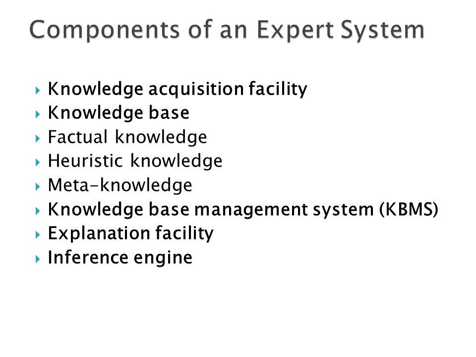 Exhibit 13.1 An Expert System Configuration