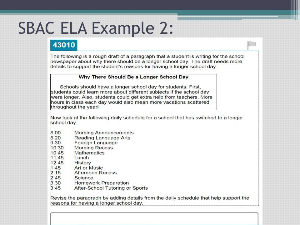 SBAC ELA Example 2:
