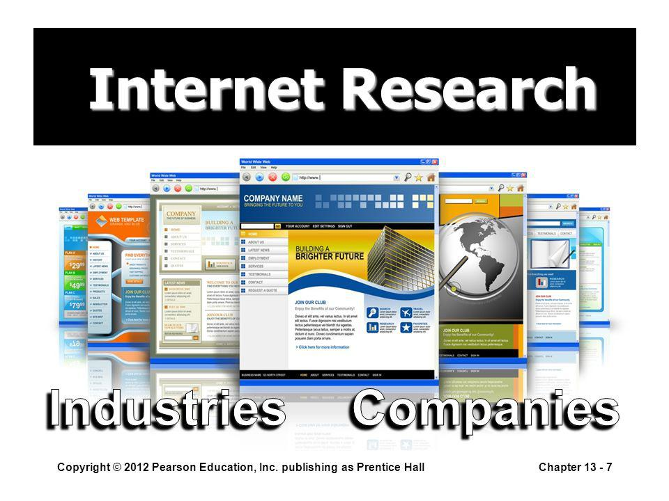 Internet Research Internet Research Copyright © 2012 Pearson Education, Inc.