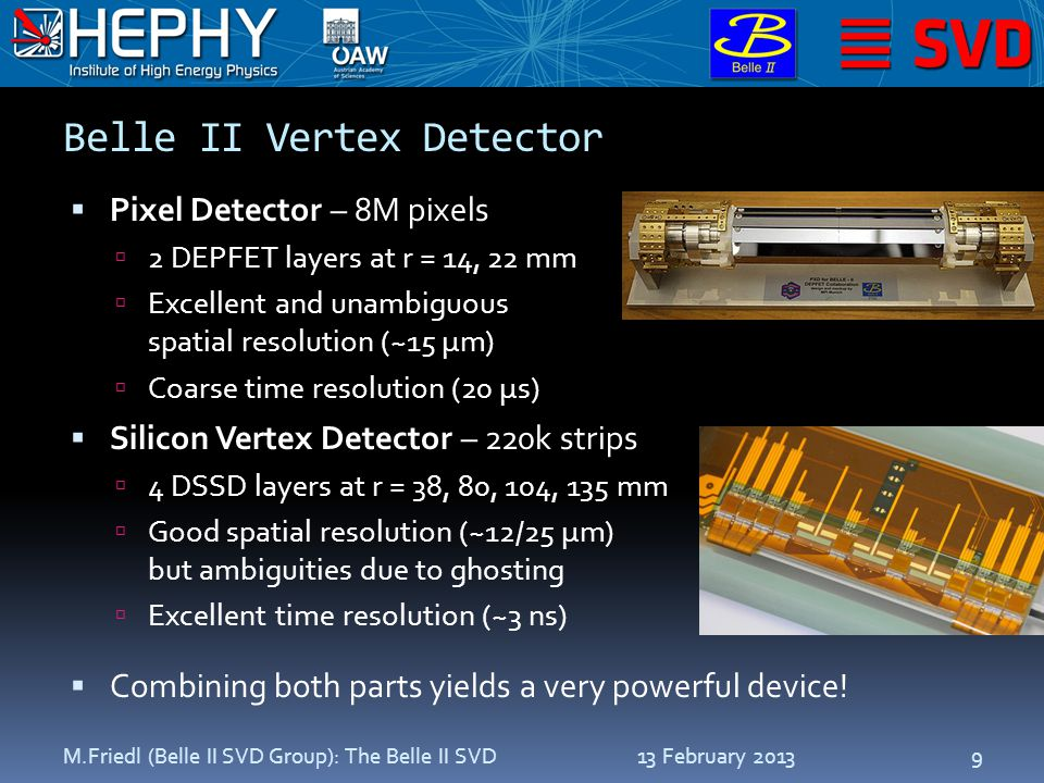 13 February 2013M.Friedl (Belle II SVD Group): The Belle II SVD10 Introduction Front-End Electronics Performance Summary