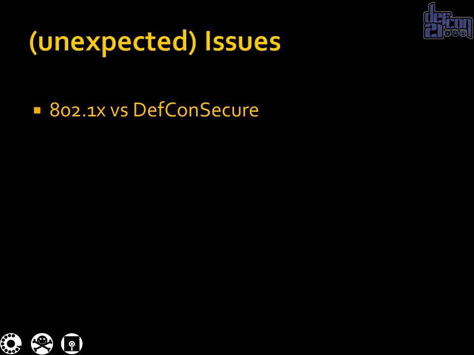  802.1x vs DefConSecure