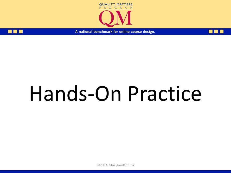 Hands-On Practice ©2014 MarylandOnline