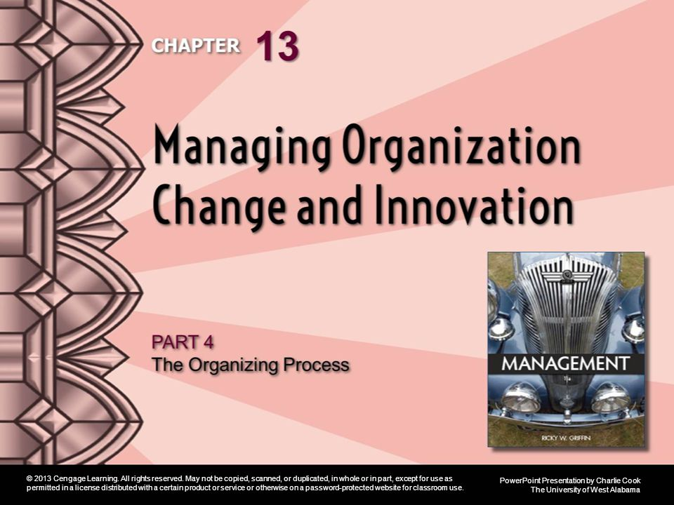 Learning Objectives 1.Describe the nature of organization change, including forces for change and planned versus reactive change.
