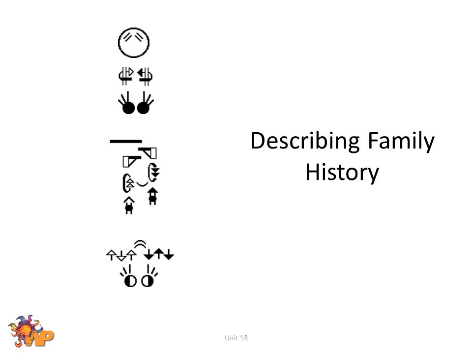 Describing Family History Unit 13