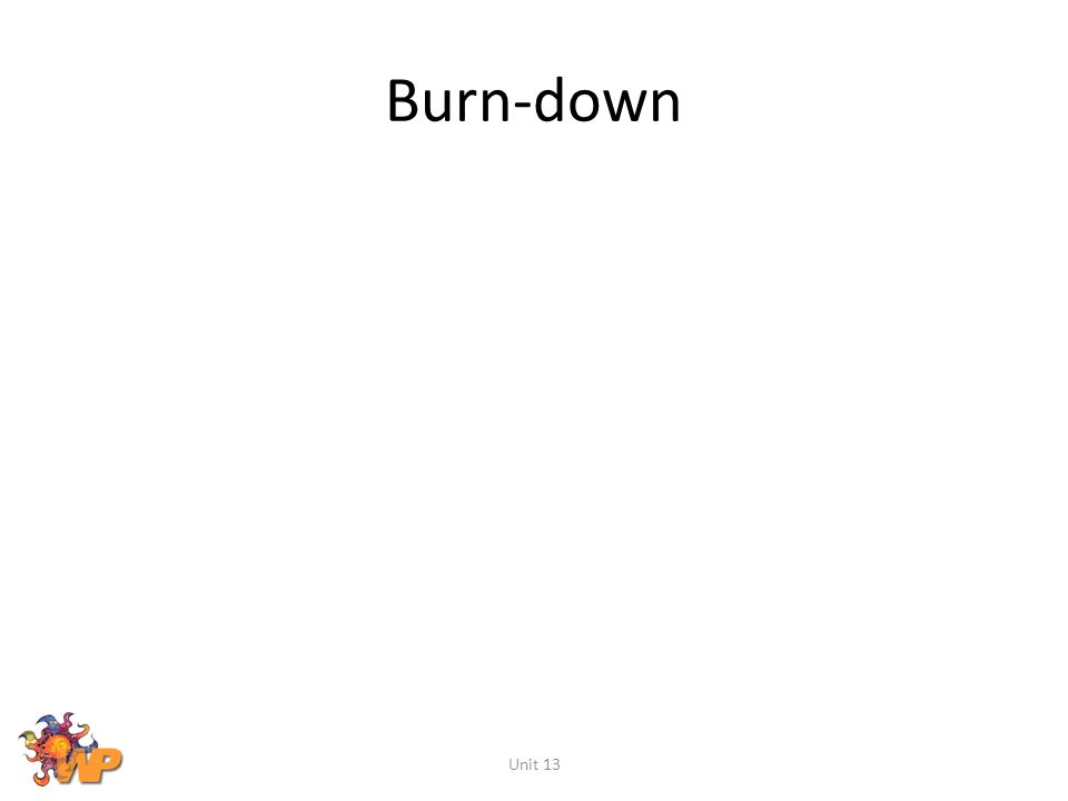 Burn-down Unit 13