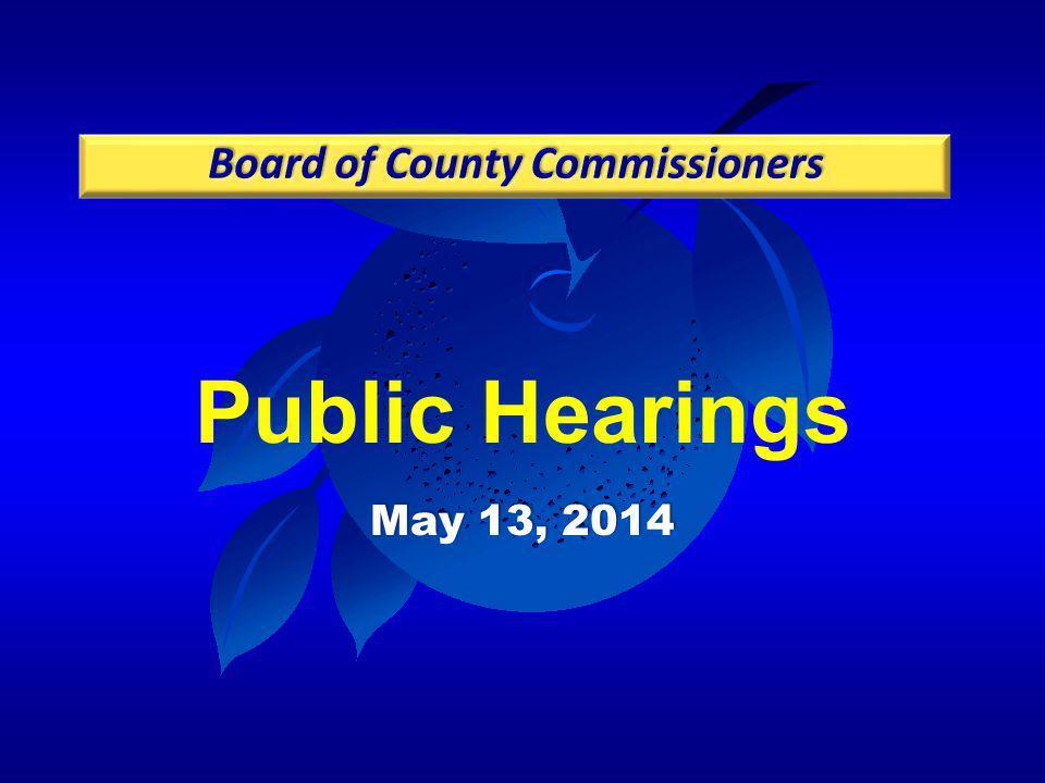 Public Hearings May 13, 2014