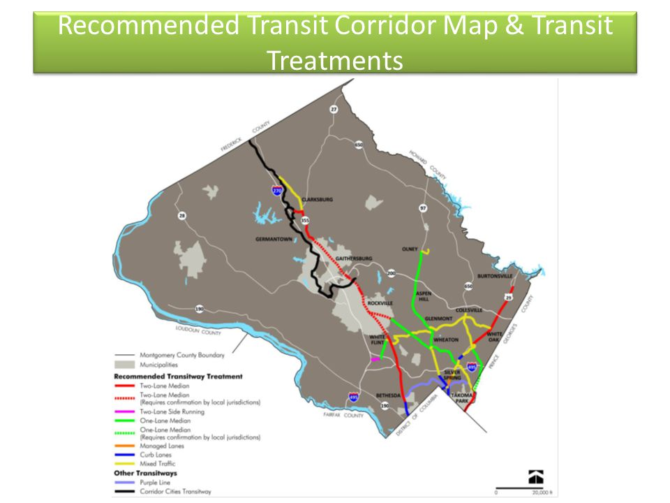 Recommended Transit Corridor Map & Transit Treatments