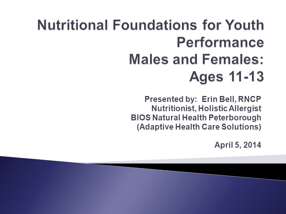 Presented by: Erin Bell, RNCP Nutritionist, Holistic Allergist BIOS Natural Health Peterborough (Adaptive Health Care Solutions) April 5, 2014