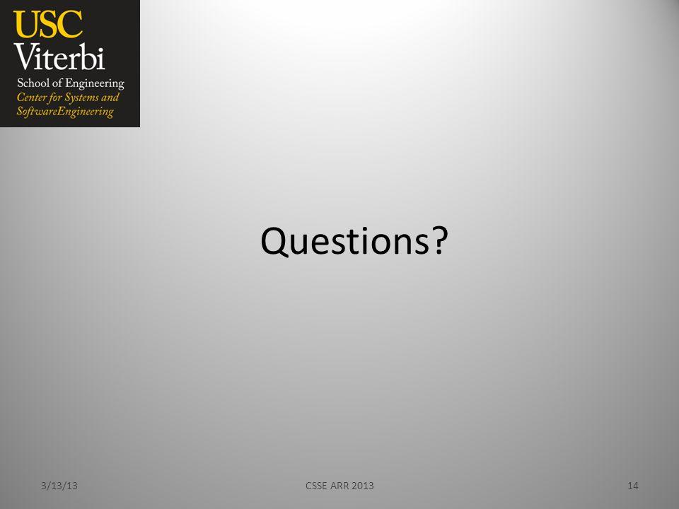 Questions 3/13/13CSSE ARR 201314