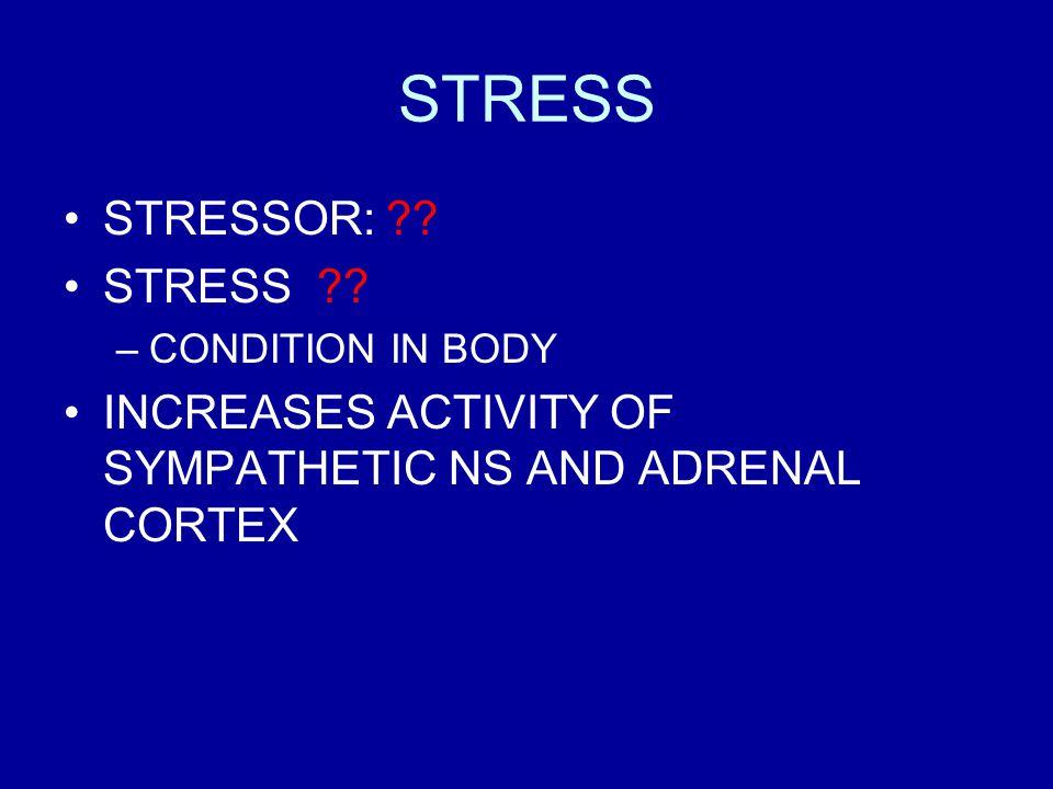 STRESS STRESSOR: ?.STRESS ?.