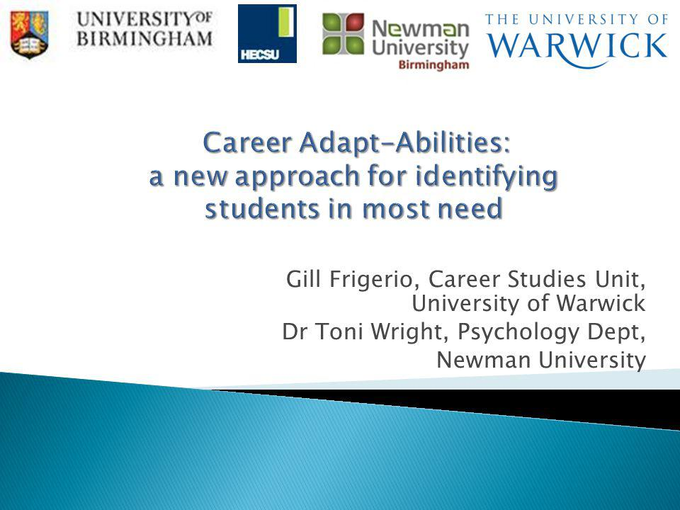  What is career adaptability. Is it a useful concept for HE Careers & Employability Services.