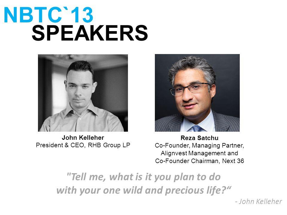SPEAKERS NBTC`13