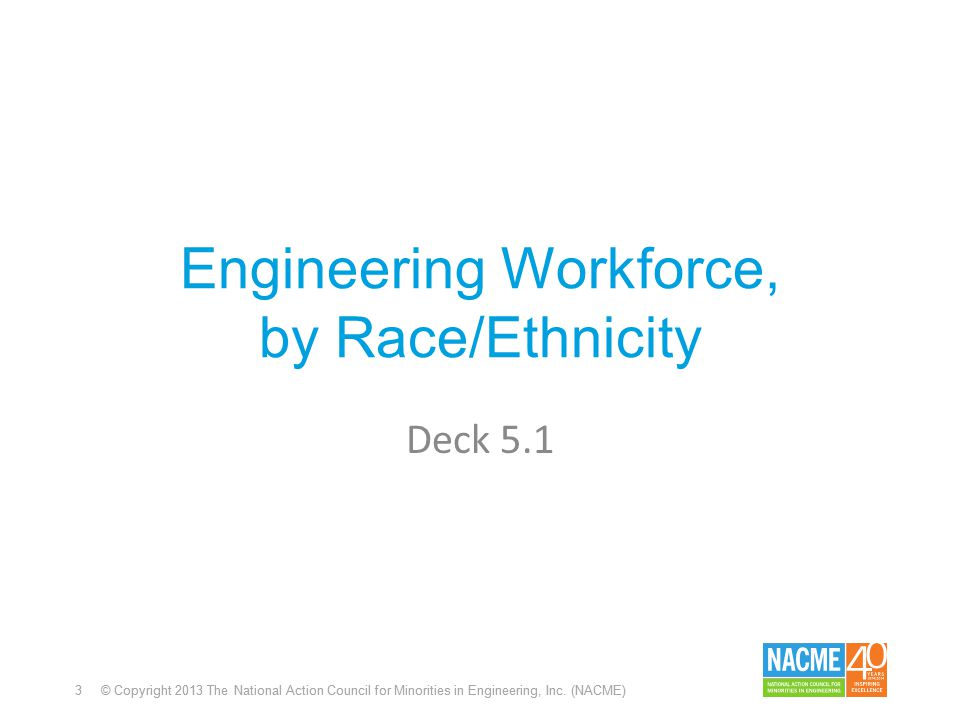 3 © Copyright 2013 The National Action Council for Minorities in Engineering, Inc.