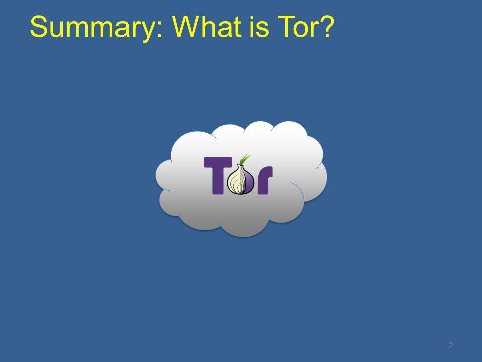 2 Summary: What is Tor?