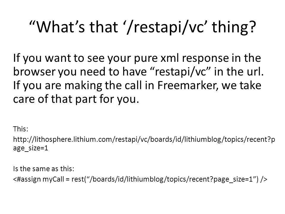 What's that '/restapi/vc' thing.