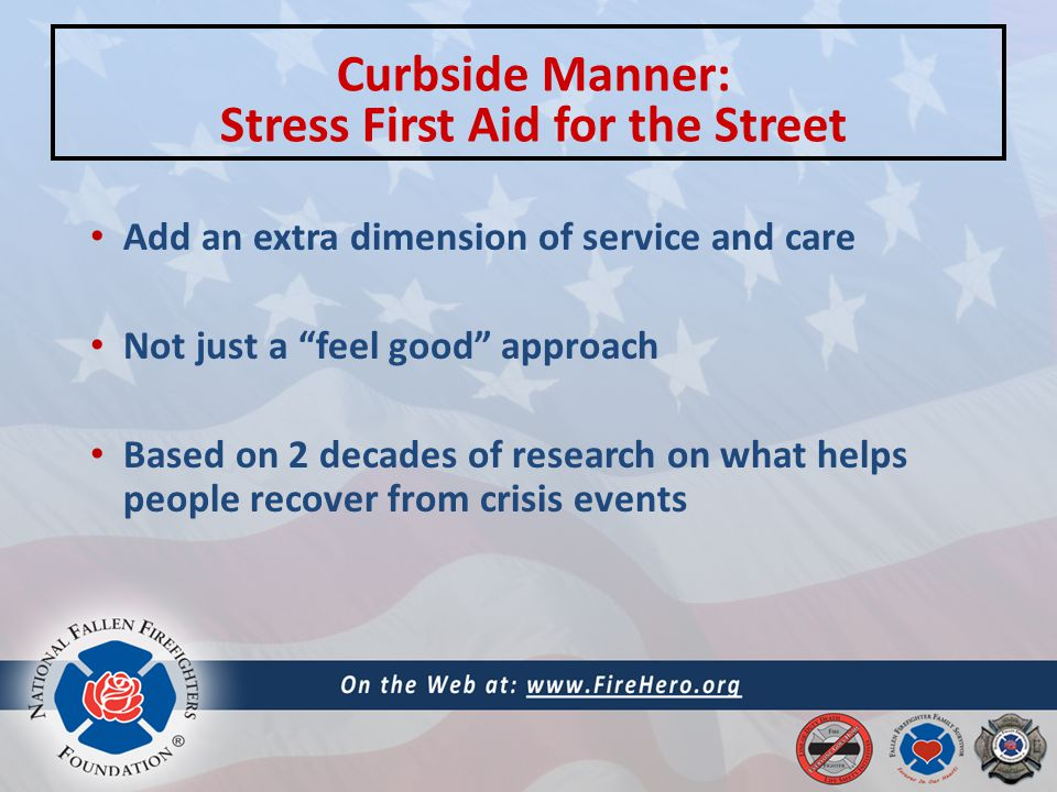 Add an extra dimension of service and care Not just a feel good approach Based on 2 decades of research on what helps people recover from crisis events