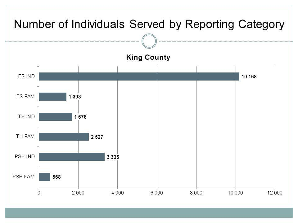 Number of Individuals Served by Reporting Category