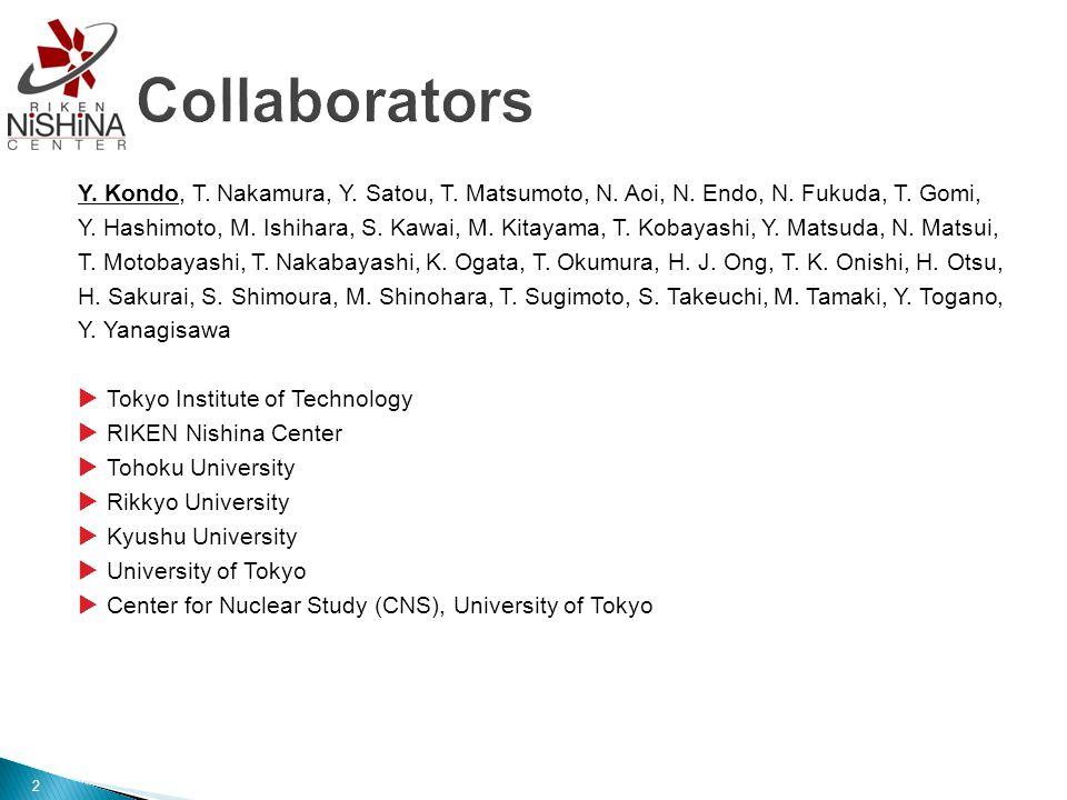2 Y. Kondo, T. Nakamura, Y. Satou, T. Matsumoto, N.