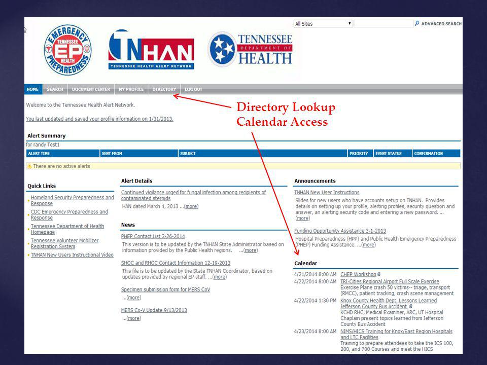 Directory Lookup Calendar Access