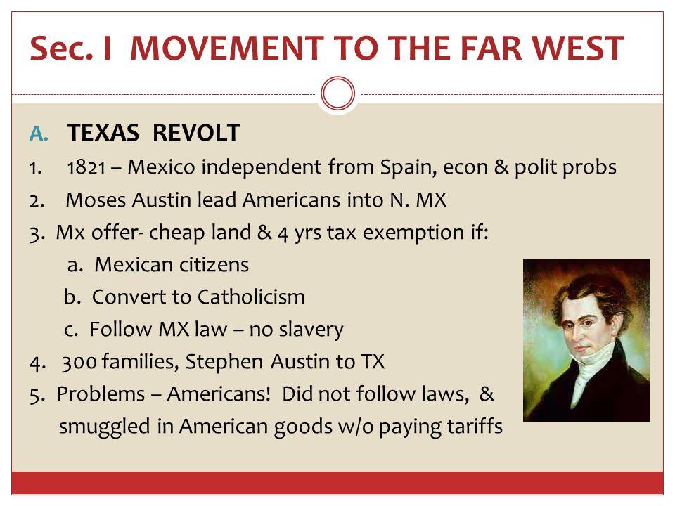 TEXAS 5.1832 Texans unhappy – wanted rep in MX leg 7000 Texans (2x # of MX in TX) 6.
